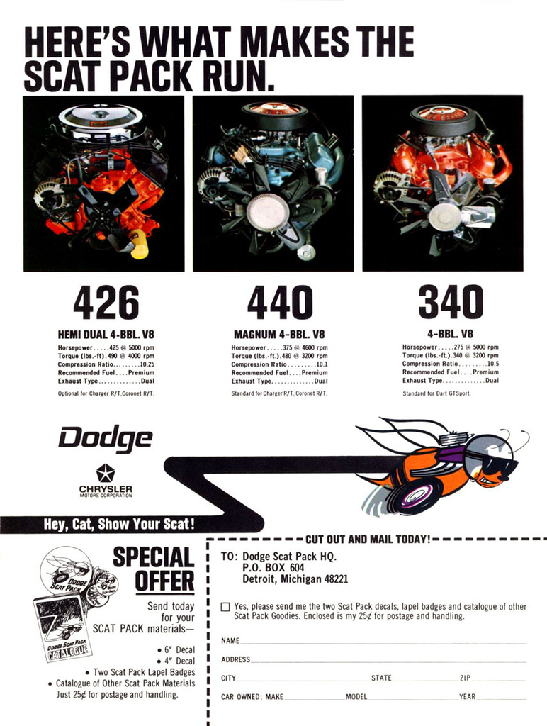 1968 dart specs colors facts history and performance classic manufacturer original s brochures