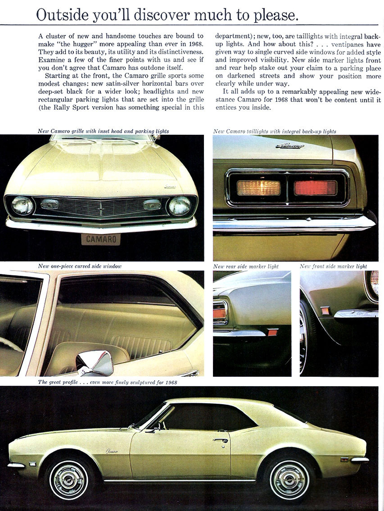 1968 Camaro Specs Colors Facts History and Performance