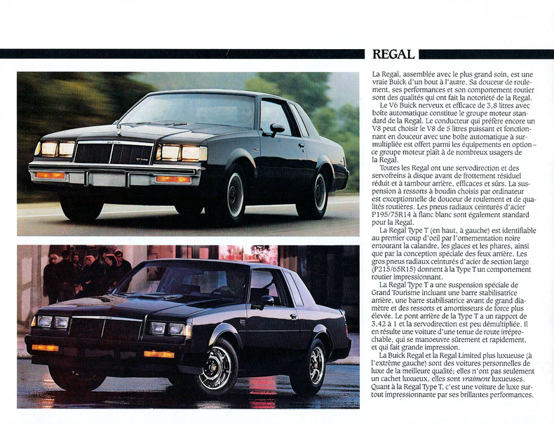 1986 Grand National Specs Colors Facts History And