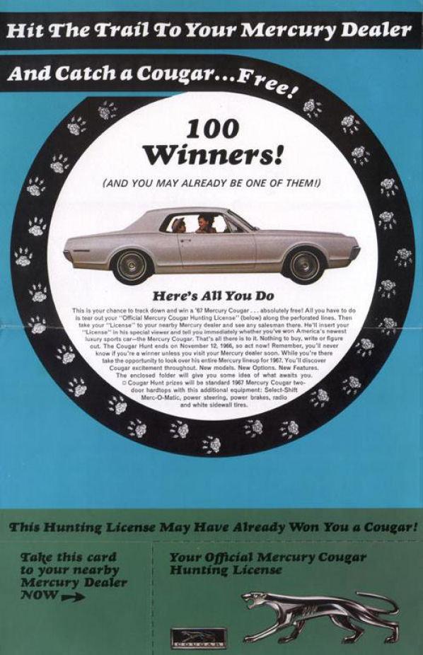 2586 1967 mercury cougar promotion flier 02 low res