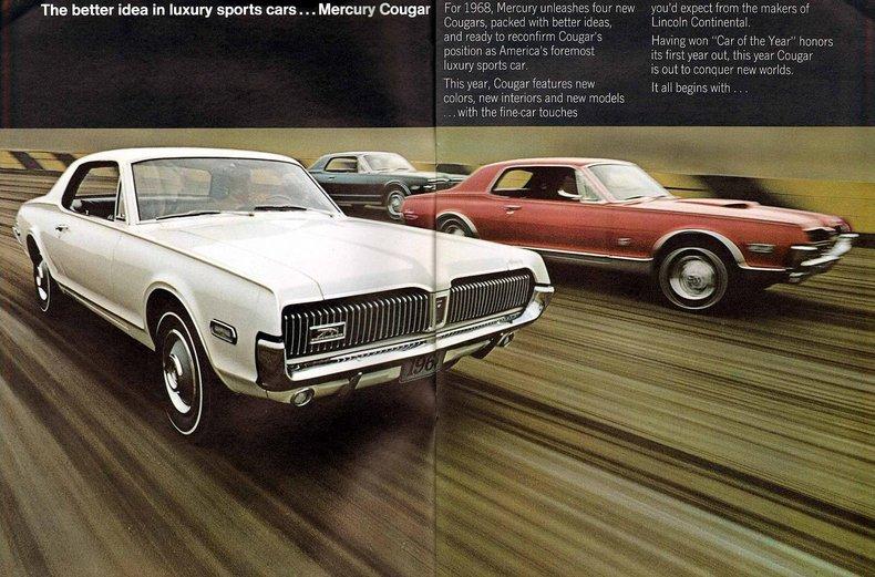 1968 mercury cougar my classic garage. Black Bedroom Furniture Sets. Home Design Ideas