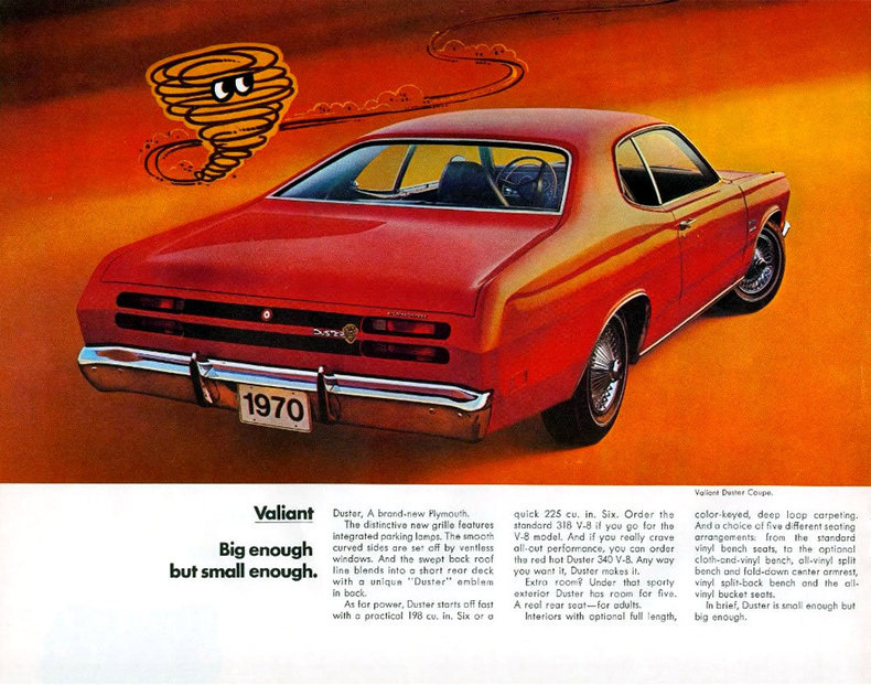 Plymouth duster weight