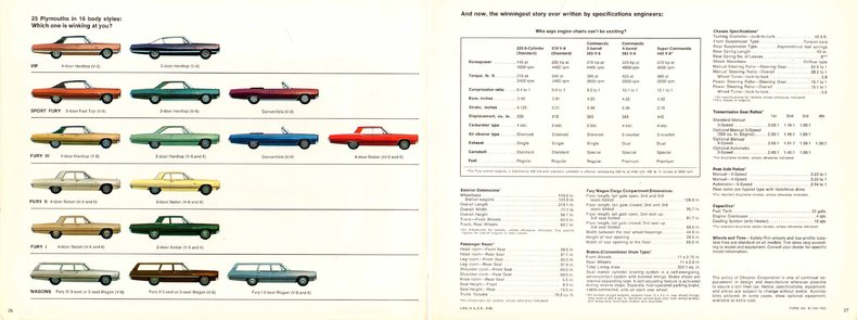 1967 fury specs colors facts history and performance classic manufacturer original s brochures