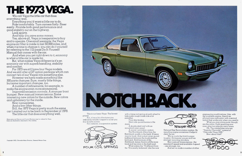 1973 Vega Specs Colors Facts History And Performance