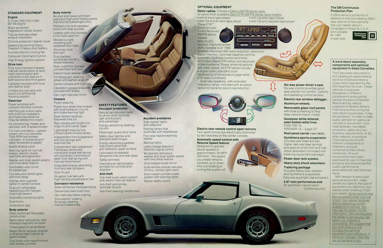 1981 Corvette Specs Colors Facts History and Performance