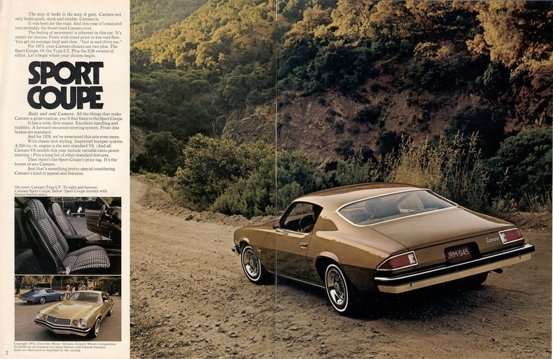 1974 Camaro Specs Colors Facts History and Performance