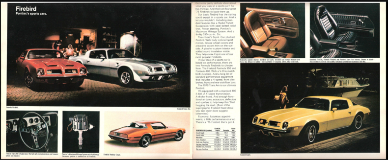 1975 Firebird Specs Colors Facts History And