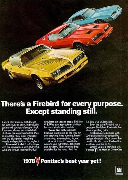 1978 Pontiac Firebird My Classic Garage