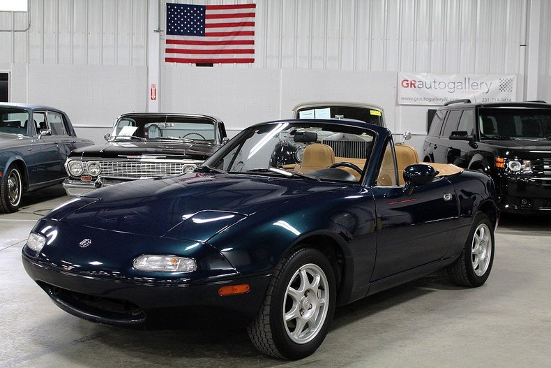 montego blue 1996 mazda mx 5 miata for sale mcg marketplace. Black Bedroom Furniture Sets. Home Design Ideas