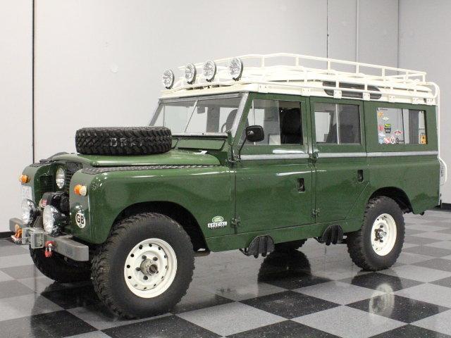 Dark green 1963 land rover series iia for sale mcg for Garage land rover villeneuve d ascq
