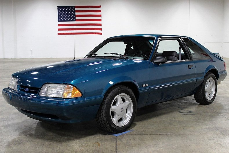 reef blue metallic 1993 ford mustang lx for sale mcg marketplace. Black Bedroom Furniture Sets. Home Design Ideas