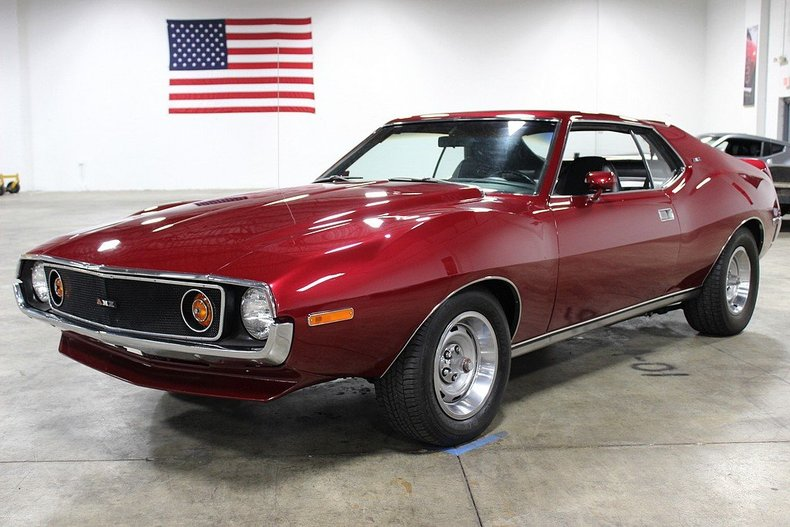 ruby red pearl 1974 amc javelin amx for sale mcg marketplace. Black Bedroom Furniture Sets. Home Design Ideas