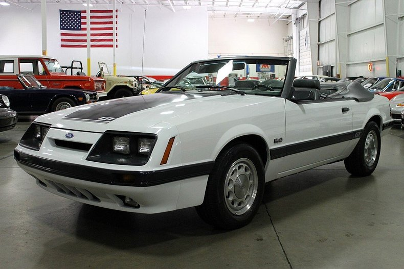 oxford white 1986 ford mustang gt for sale mcg marketplace. Black Bedroom Furniture Sets. Home Design Ideas