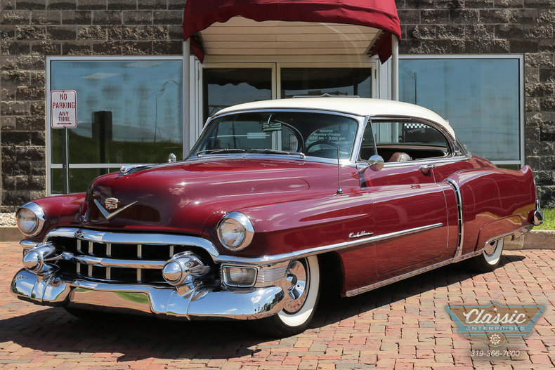 Burgundy Maroon 1953 Cadillac Coupe De Ville For Sale