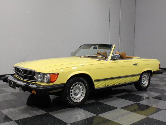Yellow 1979 mercedes benz 450 sl for sale mcg marketplace for 1979 mercedes benz 450sl for sale