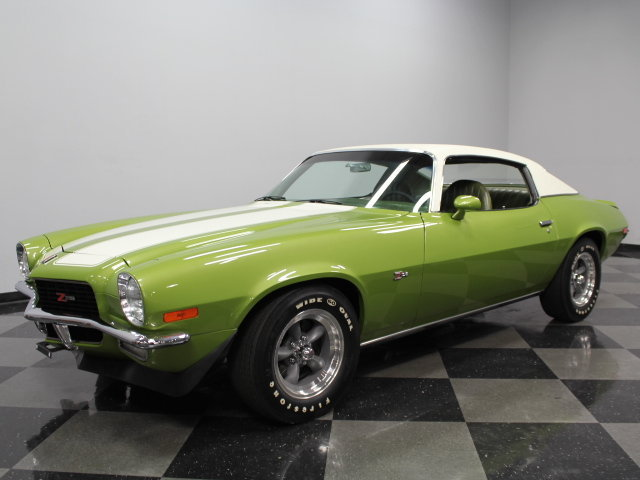 lime green 1971 chevrolet camaro z28 for sale mcg. Black Bedroom Furniture Sets. Home Design Ideas