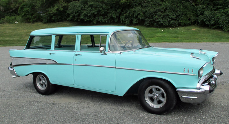 1957 Chevrolet Bel Air Station Wagon Post Mcg Social