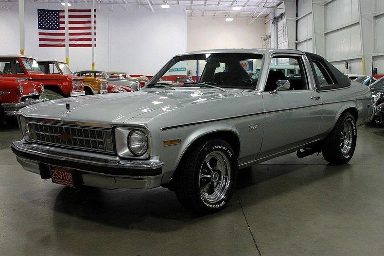 Silver 1976 Chevrolet Nova Concours For Sale Mcg Marketplace
