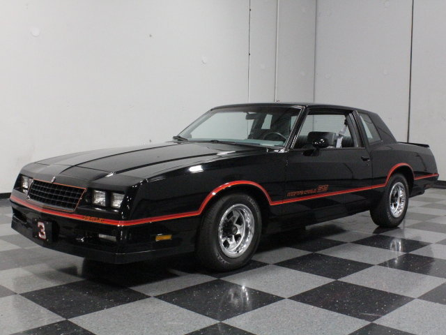 black 1985 chevrolet monte carlo ss for sale mcg marketplace. Black Bedroom Furniture Sets. Home Design Ideas