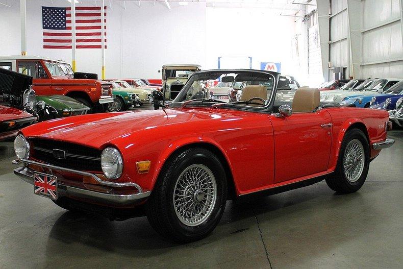 Grand Rapids Car Dealers >> Red 1969 Triumph Tr6 S55 Hardtop For Sale   MCG Marketplace