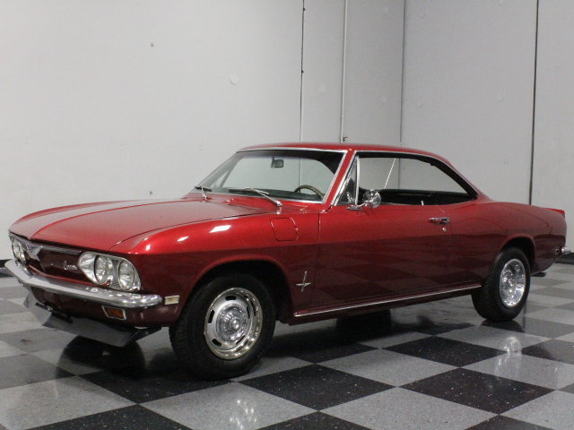 maroon 1968 chevrolet corvair monza for sale | mcg marketplace