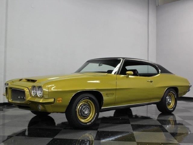 Quezal Gold 1971 Pontiac Gto For Sale  MCG Marketplace