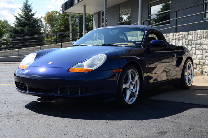lapis blue 2001 porsche boxster s for sale mcg marketplace. Black Bedroom Furniture Sets. Home Design Ideas