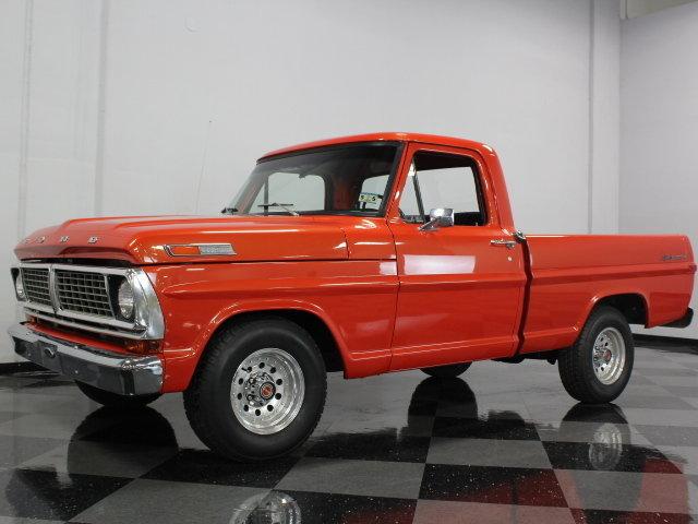 orange 1972 ford f100 for sale mcg marketplace