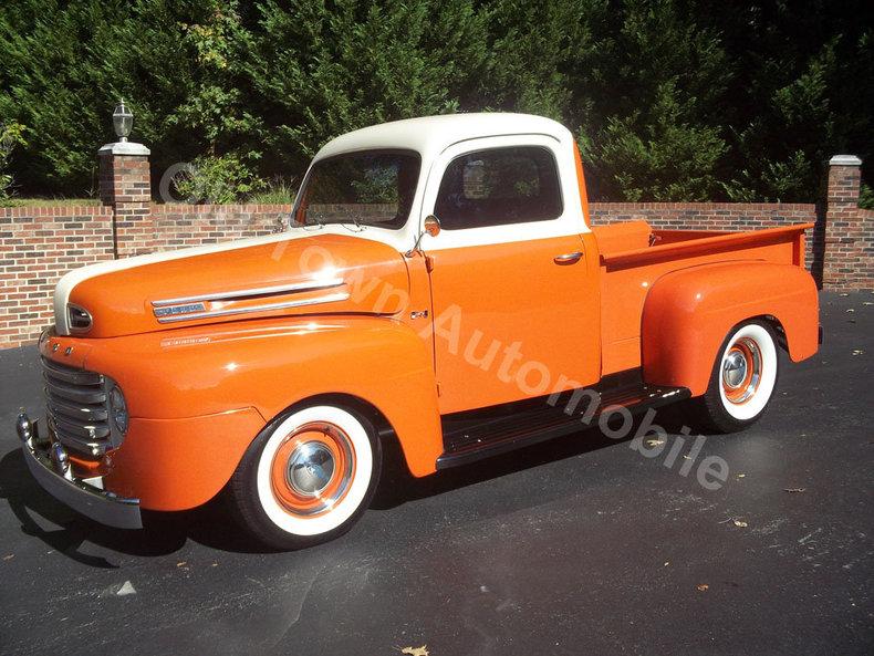 Orange 1948 ford f1 for sale mcg marketplace for Garage ford orange