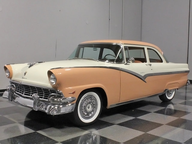buckskin tan 1956 ford fairlane for sale mcg marketplace. Black Bedroom Furniture Sets. Home Design Ideas