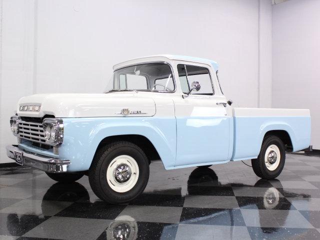 blue 1959 ford f100 for sale mcg marketplace. Black Bedroom Furniture Sets. Home Design Ideas