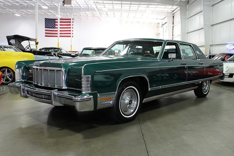 dark jade 1976 lincoln continental town car for sale mcg marketplace. Black Bedroom Furniture Sets. Home Design Ideas