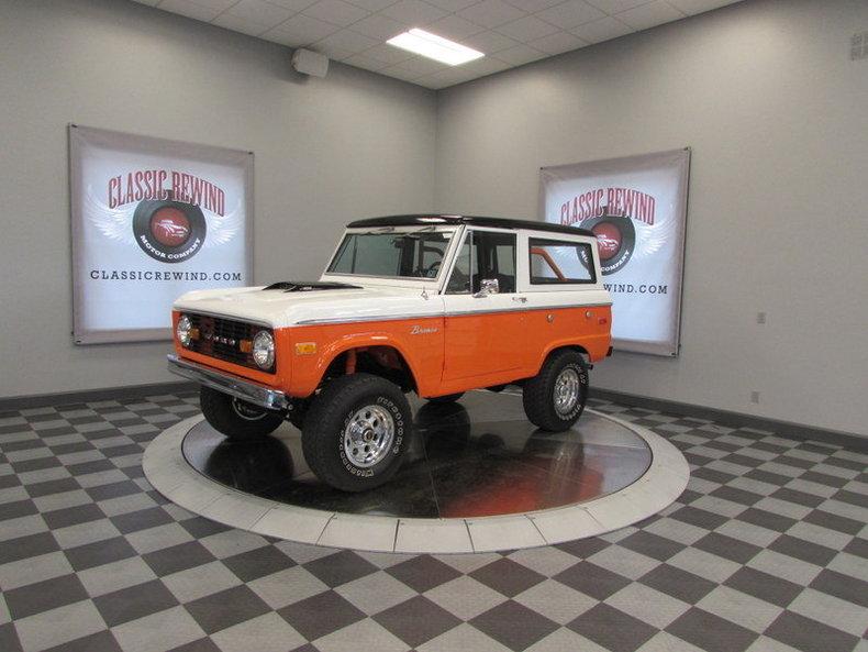 Orange 1975 ford bronco for sale mcg marketplace for Garage ford orange