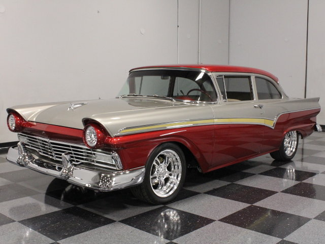 Burgundy 1957 Ford Custom 300 For Sale | MCG Marketplace