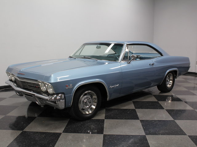 blue 1965 chevrolet impala ss for sale mcg marketplace. Black Bedroom Furniture Sets. Home Design Ideas