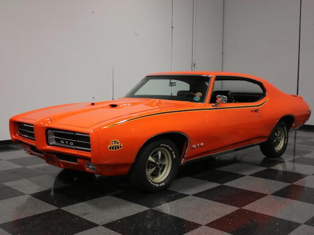 Orange 1969 pontiac gto judge for sale mcg marketplace for Garage auto orange