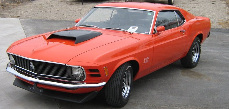 Orange 1970 ford mustang boss 429 for sale mcg marketplace for Garage ford orange
