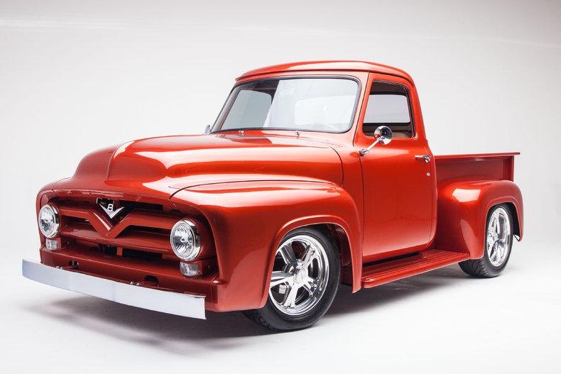 Orange 1955 ford f100 for sale mcg marketplace for Garage ford orange