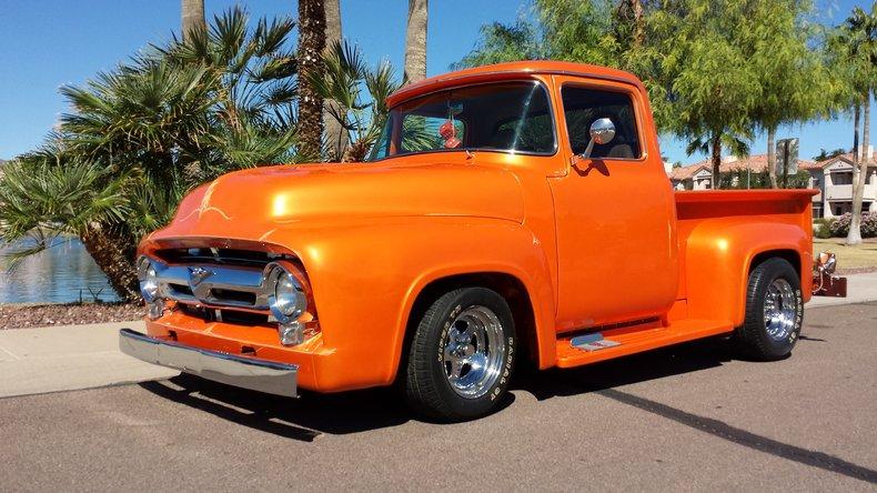 Orange 1956 ford f100 for sale mcg marketplace for Garage ford orange