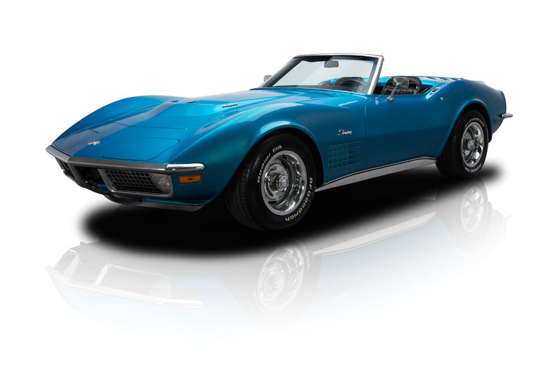 mulsanne blue 1970 chevrolet corvette stingray for sale mcg marketplace. Black Bedroom Furniture Sets. Home Design Ideas