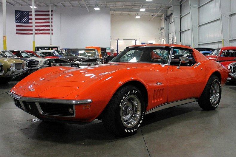 Orange 1969 chevrolet corvette for sale mcg marketplace for Garage auto orange