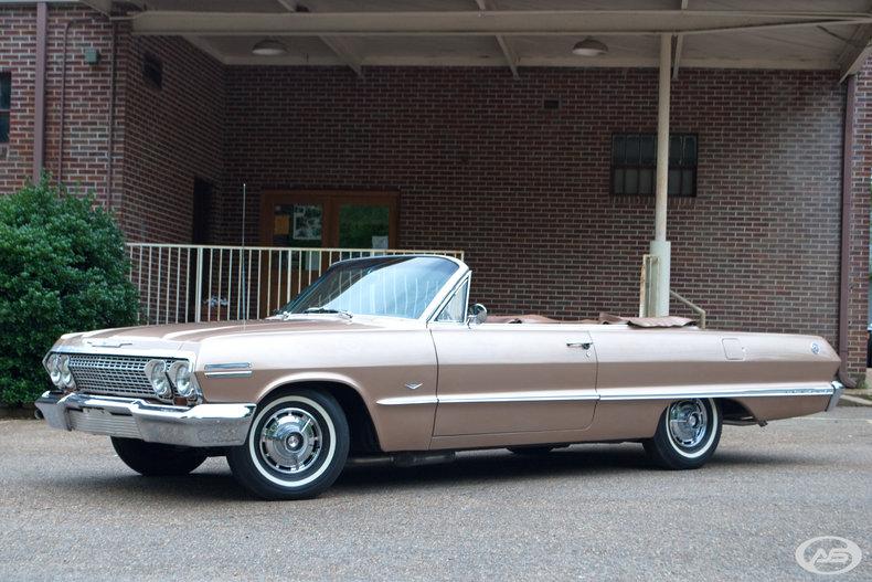 saddle tan 1963 chevrolet impala ss for sale mcg marketplace. Black Bedroom Furniture Sets. Home Design Ideas