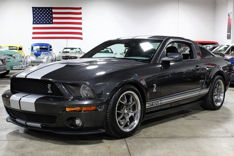 gray 2008 ford mustang shelby gt500 for sale mcg marketplace. Black Bedroom Furniture Sets. Home Design Ideas