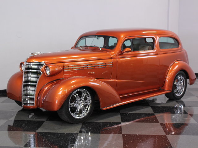 Orange copper 1938 chevrolet sedan for sale mcg marketplace for 1938 chevy 4 door sedan for sale