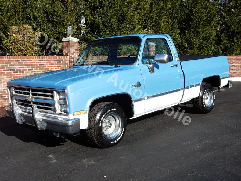 Blue 1987 Chevrolet Silverado For Sale