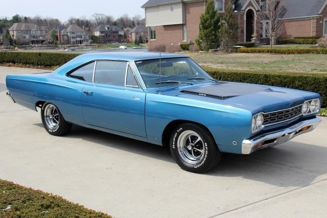 blue 1968 plymouth road runner for sale mcg marketplace. Black Bedroom Furniture Sets. Home Design Ideas