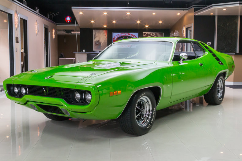 sassy grass green 1971 plymouth road runner for sale mcg. Black Bedroom Furniture Sets. Home Design Ideas