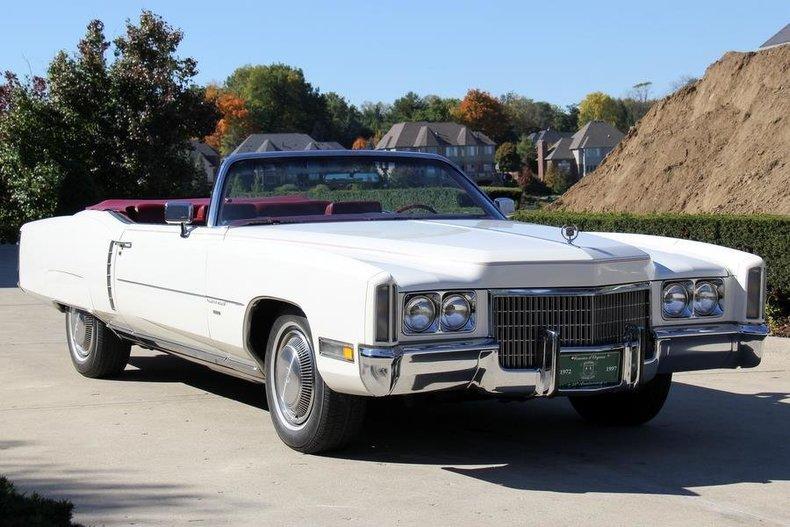 White 1971 Cadillac Eldorado Convertible For Sale Mcg
