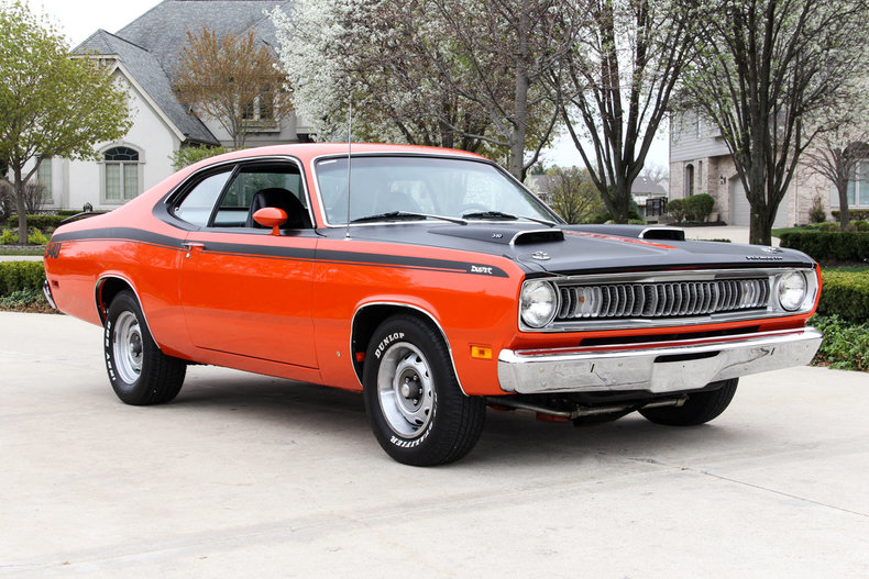 Orange 1971 Plymouth Duster For Sale Mcg Marketplace