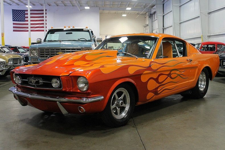 Orange 1965 ford mustang for sale mcg marketplace for Garage auto orange